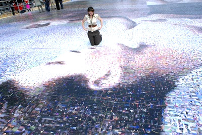 An aerial shot of the world's biggest photo mosaic